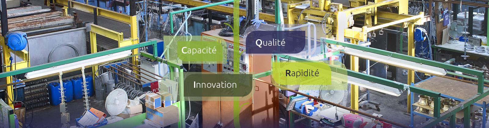 Galvanoplastie industrielle :capacité qualité innovation rapidité